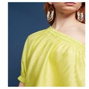 {Anthropologie} Maeve Leonie One Shoulder Blouse